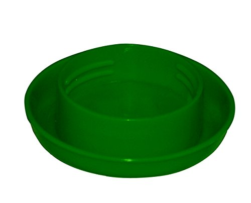 Harris Farms Screw-On Poultry Watering Base for Quart Jar, Green