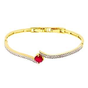 Aurora Women's Alloy Ruby Charm Bracelet
