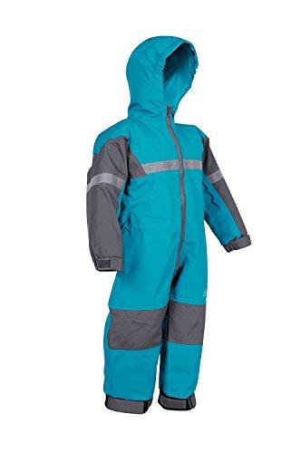 OAKI Rain Suit Kids - Toddler Snowsuit - One Piece Rain Jacket/Pant for Girls & Boys, Celestial Blue, 6/7