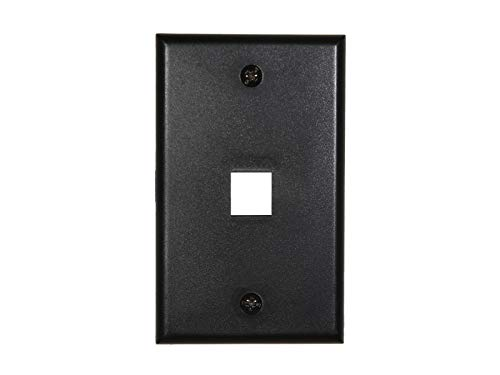 Networx 1 Port Keystone Faceplate - Single Gang - -