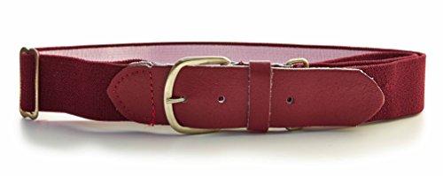 Baseball Belt, Maroon, One Size (Maroon Athletic Belt)