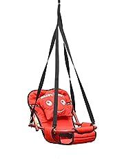 مرجيحه وسرير للاطفال 2 في 1 تعلق في السقف اللون الاحمر