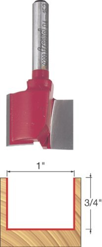 - Freud 04-152 1-Inch Diameter by 3/4-Inch Double Flute Straight Router Bit with 1/4-Inch Shank by Freud