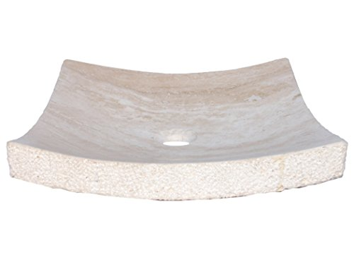 - Eden Bath EB_S031BT-H Beige Travertine Zen Stone Vessel Sink