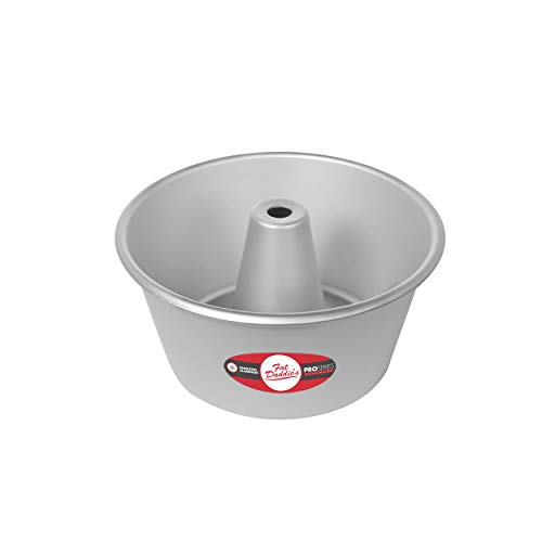 Fat Daddios PAF-8375 ProSeries Anodized Aluminum Angel Food Cake Pan, 8 x 3.75 Inch, Silver