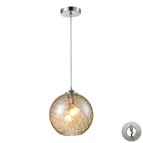 Watersphere 1 Light Pendant (Watersphere 1 Light Pendant In Polished Chrome Includes An Adapter Kit To Allow For Easy Conversion Of A Recessed Light To A Pendant)