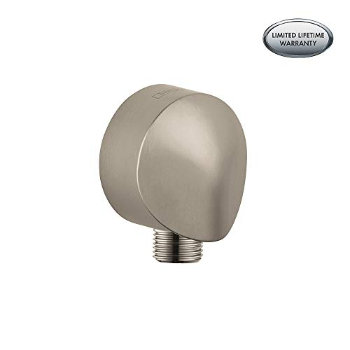 Hansgrohe Wall Outlet with Dual Check Valve, Brushed Nickel