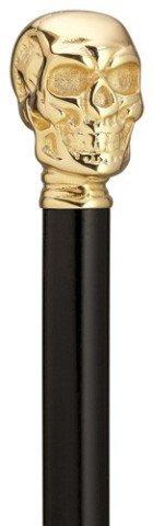 KOBE STICKS 神戸ステッキ 木製 人生にロックを かっこよさと高級感を楽しめるゴールドスカルステッキ B07B4Y5D12 80cm(身長154~155cmの方)  80cm(身長154~155cmの方)