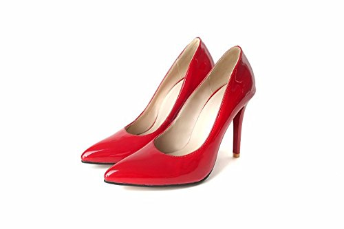 RFF-Women's Shoes Zapatos de Tacón/Los Zapatos de Tacón Alto, Zapatos de Mujer, Zapatos de Punta Grande, Zapatos de Mujer, Parte Inferior de Oxford gules