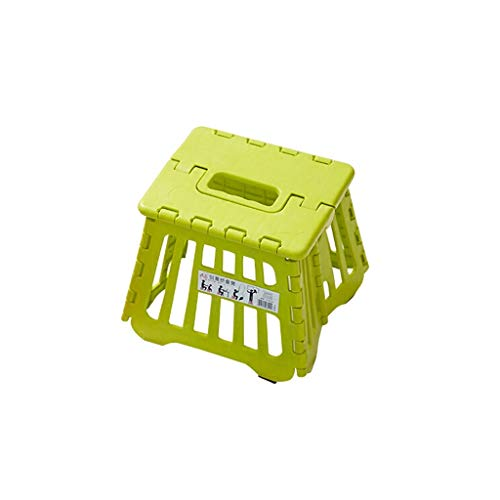 Haolistore-chairs Plastic Folding Step Stools,Tall Heavy Duty, Very Strong, Single Step, Collapsible Foldaway, Light Weight, Multi-Purpose - 221821cm (Color : Green)