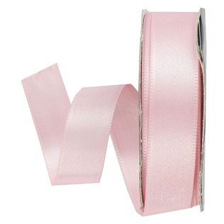 5/8 pale pink satin ribbon on a spool