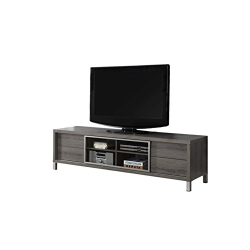 Monarch Specialties I 2536, TV Console, Euro Style, Dark Taupe, 70''