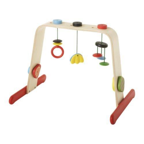 IKEA LEKA – Baby gym, birch, multicolour