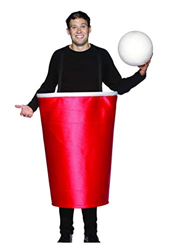Rasta Imposta Beer Pong Cup Costume, Red, One -