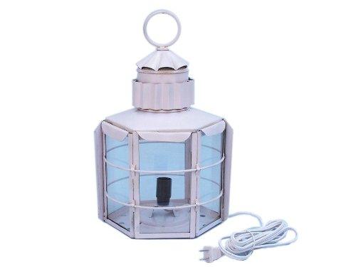 Iron Clipper Electric Lamp 15″ – White – Clipper Electric Lamp – Nautical Lantern