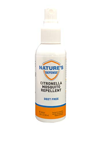 Liquid Pet Citronella Mosquito Repellent Spray, Deet Free, Use while Camping, Hiking, BBQs, Gardening, Outdoor Activities, Travel Size Bottle 100ml (3.38 oz)