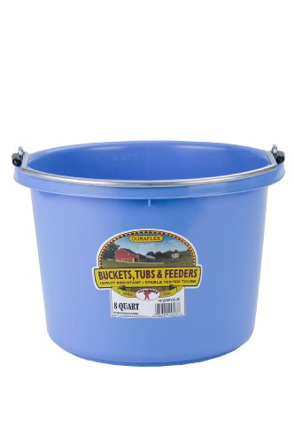 Image of Miller Manufacturing P8BERRYBLUE Plastic Round Back Bucket for Horses, 8-Quart