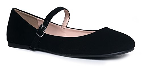 - J. Adams Mary Jane Ballet Flat - Quilted Comfort Casual Shoe - Easy Everyday Velcro Slip On - Lottie by