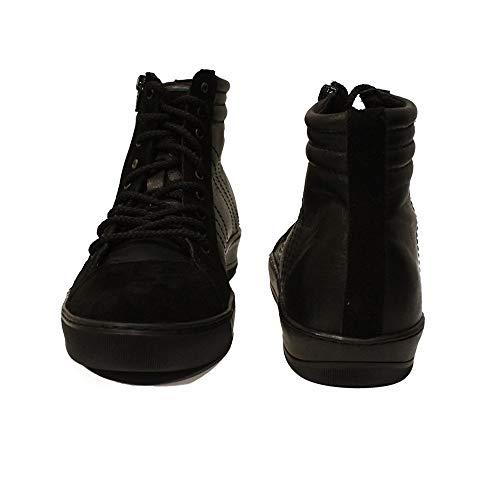 Mode Schuhe Italienisch Leder Leder Herren Handgemachtes Lässige Modello Schwarz Sneakers Tricko Schnüren Rindsleder Weiches zBqRYY