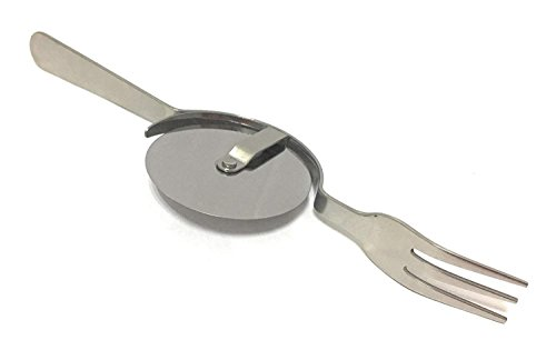 The Pizza Knife and Fork,430 Stainless Steel Pizza Knife Super Sharp and Easy To Clean Slicer, Safety