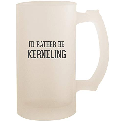 I'd Rather Be KERNELING - 16oz Glass Frosted Beer Stein Mug, ()