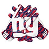 Nike Mens NFL Authentic Vapor Fly Receiving Gloves New York Giants Red/Blue