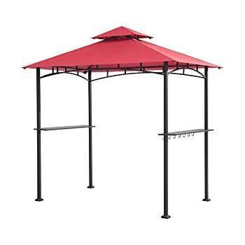 Sunjoy 8u0027 x 5u0027 Sylvan Soft top Grill Gazebo Red Canopy  sc 1 st  Amazon.com & Amazon.com : Sunjoy 8u0027 x 5u0027 Sylvan Soft top Grill Gazebo Red ...