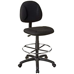 Boss Office Products Ergonomic Works Drafting Chair without Arms in Black