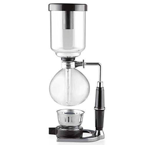 (Siphon Coffee Maker- 5 Cup Glass Coffee Syphon, Vacuum Coffee Maker for Brewing Coffee and Tea, Made With Heat Resistant Glass, a U.S. Solid Product)