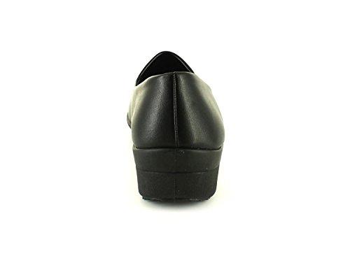 Ever So Soft - Keilabsatzschuh Damen schwarz dehnbar Slipper - Schwarz, Synthetisches Material, 39