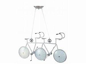 Moderne Designer Glas Decken Pendelleuchte mit Motiv Tandem