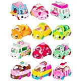 Cutie Cars Shopkins S1 3pk - Fast 'N' Fruity, Freezy Riders, Bumper Bakery, Candy Combo BUNDLE OF 4 BONUS Sneaky Wedge by LJIF