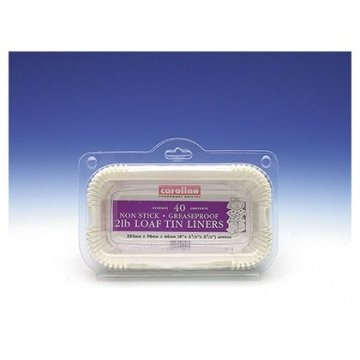 2lb Loaf Tin Liner - Pack of 40 - 20cm by Caroline