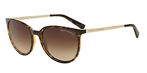 Armani Exchange AX4048S Sunglasses 803713-56 - Tortoise Frame, Brown - Sunglasses 56