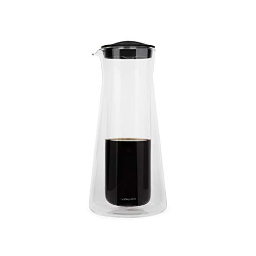notNeutral Gino 2.5 Cup Coffee Server (20 oz) | Glass Coffee Carafe | Coffee Pot | Clear