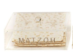 Passover Matzo Tray Holder for Pesach Seder & Matzah Afterwards with Lid