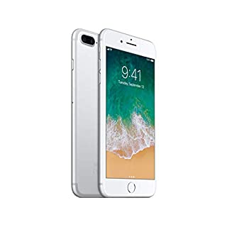 Apple iPhone 7 Plus, 256GB, Silver - Fully Unlocked (Renewed)