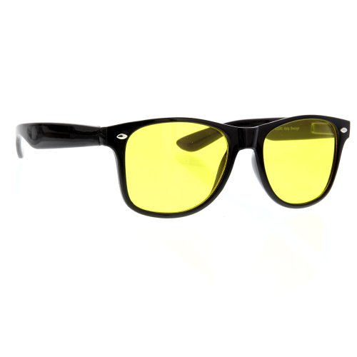 Vintage Sunglasses Color Lens Gradient Classic Retro (Gradient Yellow Lens)
