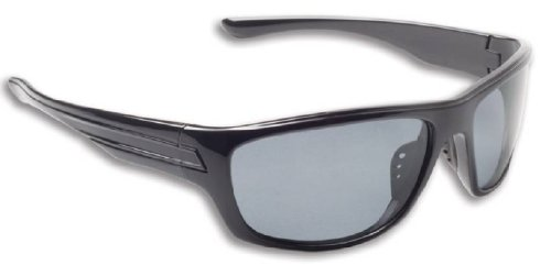 Fisherman Eyewear Striper Sunglasses with Gray Polarized Lens, Black - Eyewear Fisherman Sunglasses