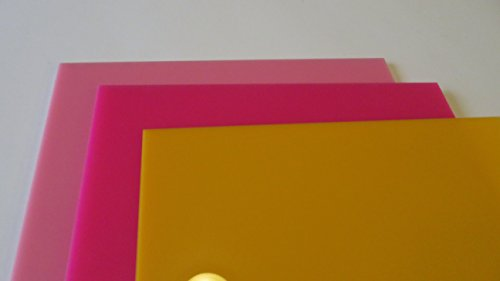 Amazon.com: Plastic plexiglass colored acrylic sheets 3 colors 12x12 ...