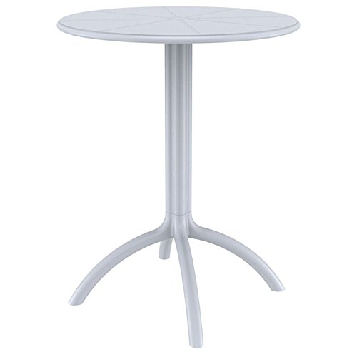 Compamia Octopus Round Bistro Table in Silver and Gray by Compamia