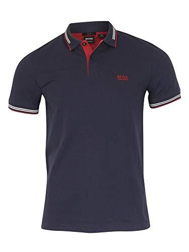Hugo Boss Men's Paul Navy Slim Fit Short Sleeve Polo Shirt Sz: M from Hugo Boss