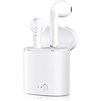 Bluetooth Headphones, Wireless Headphone Stereo in-Ear Noise Canceling Headset with 2 Wireless Built-in Mic Earphone and Charging Case