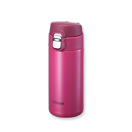 Tiger MMJ-A036 PA Vacuum Insulated Stainless Steel Travel Mug with Flip Open Lid, Double Wall, 12 Oz, Pink