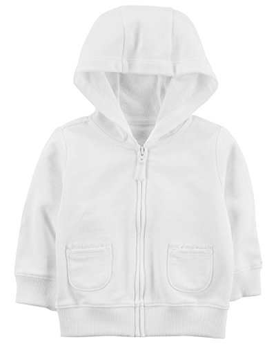 Price comparison product image Carter's Girls' French Terry Hoodie (24 Months, Ivory)