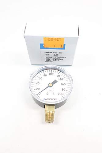 ASHCROFT 25W1005-H-02L-200# Pressure Gauge 0-200PSI 1/4IN NPT