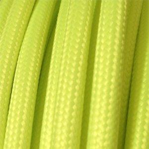 Fil /électrique tissu Fluo Jaune