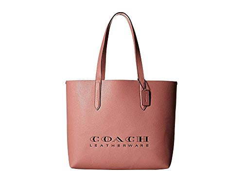 COACH Women's Crossgrain Leather Coach Highline Tote Light Blush/Silver One Size