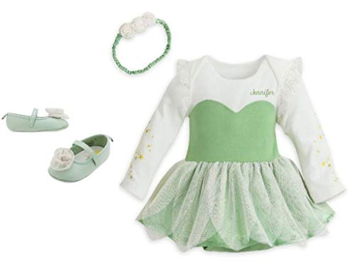 Disney Tinkerbell Costume Bodysuit & Shoes Set for Baby Size 3-6 Months