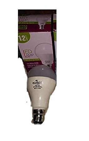 Ecolightelpm 12W LED Bulb  White  Light Bulbs